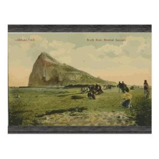 Gibraltar Rock From Neutral Ground, Vintage Postcard