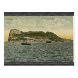 Gibraltar Rock From The Bay Vintage Post Card