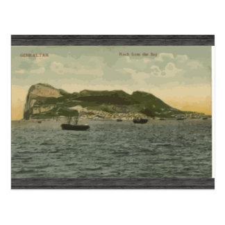 Gibraltar Rock From The Bay, Vintage Postcard