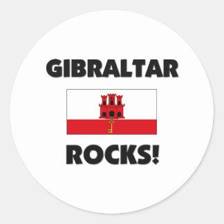 Gibraltar Rocks Round Sticker