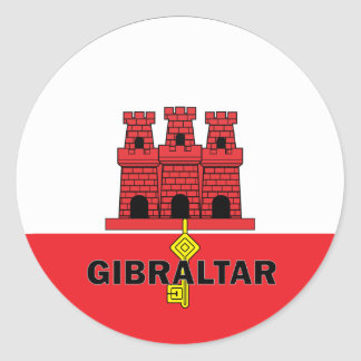Gibraltar Roundel quality Flag Classic Round Sticker
