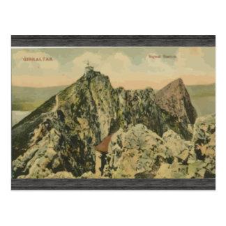 Gibraltar Sigeal Station, Vintage Postcard