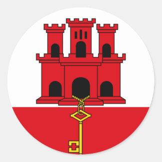 gibraltar round sticker