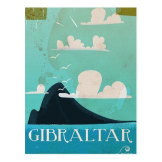 Gibraltar vintage travel poster postcard