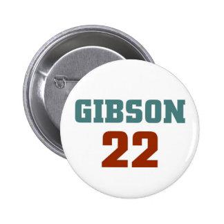 Gibson 22 pinback button