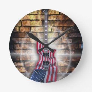 Gibson American Flag Guitar Clocks