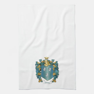 Gibson Coat of Arms and Ancient Tartan Hand Towel