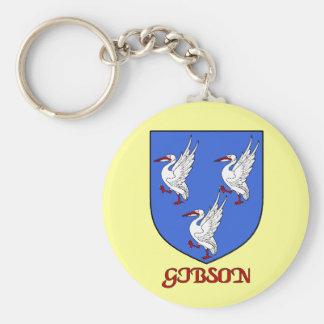 Gibson Family Shield Keychain