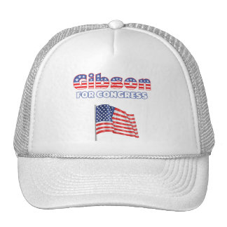 Gibson for Congress Patriotic American Flag Hats