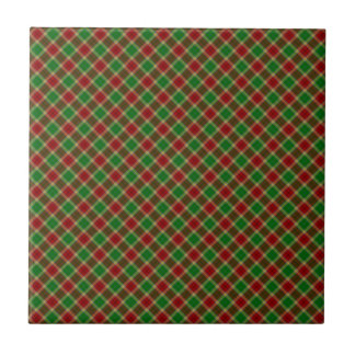 Gibson / Gibbs Clan Tartan Designed Print Small Square Tile