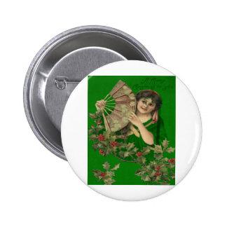 Gibson Girl Fan Button