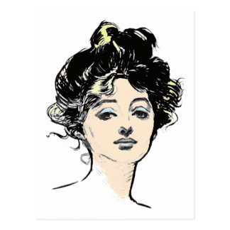 Gibson Girl Head Designs Post Cards