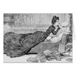 Gibson Girl Reading a Book Greeting Card
