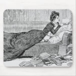 Gibson Girl Reading a Book Mouse Pad