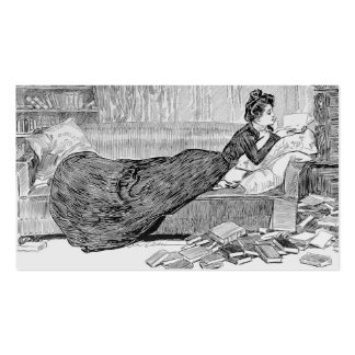 Gibson Girl Reading Pack Of Standard Business Cards