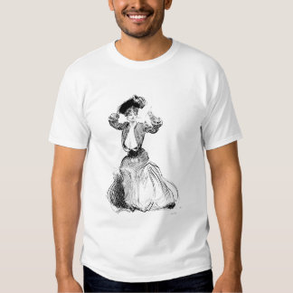 Gibson Girl With Hat, 1904 T Shirts