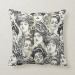 Gibson Girls by Charles Dana Gibson Circa 1902 Pillow