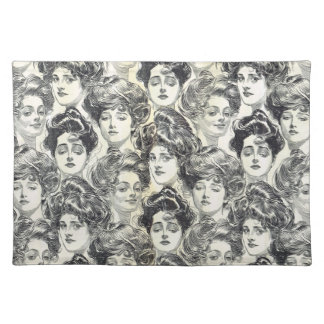 Gibson Girls by Charles Dana Gibson Circa 1902 Placemat