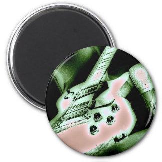 Gibson popart 6 cm round magnet