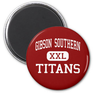 Gibson Southern - Titans - High - Fort Branch 6 Cm Round Magnet