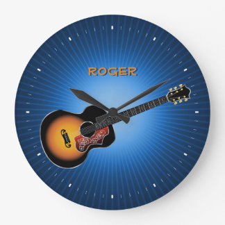Gibson Vintage Acoustic Guitar Wall Clocks