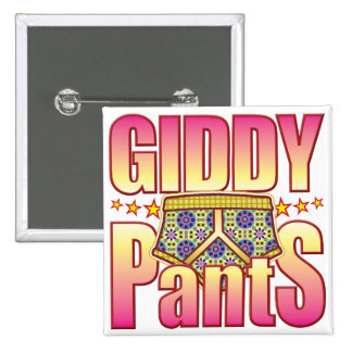 Giddy Flowery Pants Button