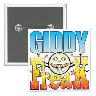 Giddy Freaky Freak 15 Cm Square Badge