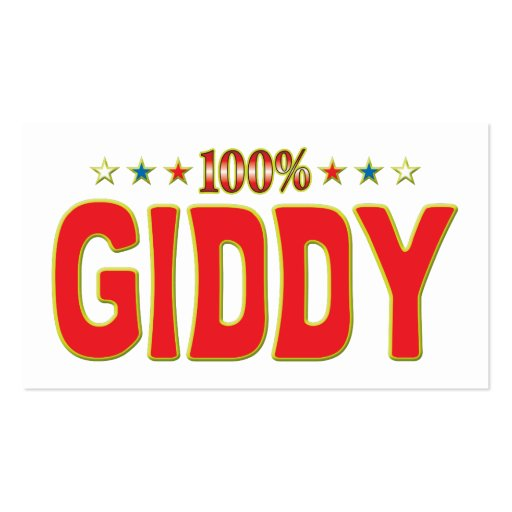 Giddy Star Tag Business Card