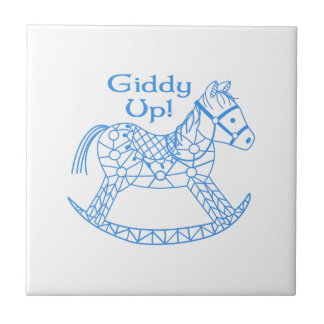 Giddy Up! Small Square Tile