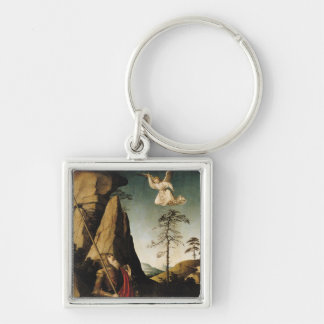 Gideon and the Fleece, c.1490 Silver-Colored Square Key Ring
