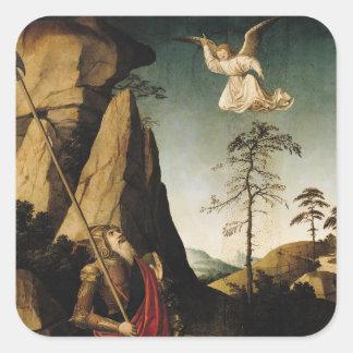 Gideon and the Fleece, c.1490 Square Sticker