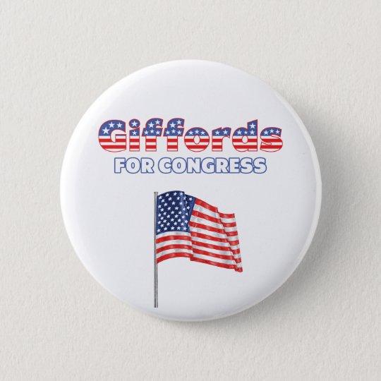 Giffords for Congress Patriotic American Flag Desi 6 Cm Round Badge