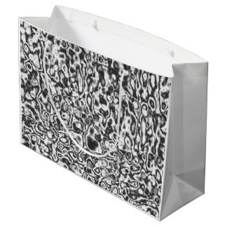 Gift bag black-and-white