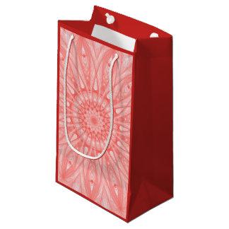 Gift bag with Mandalagrafik in red