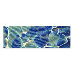 Gift Book Blue Batik Marble Bookmark Pack Of Skinny Business Cards