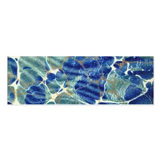 Gift Book Blue Batik Marble Bookmark Pack Of Skinny Business Cards