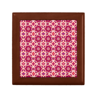 Gift Box - Decorative Red & Pink Star Shapes