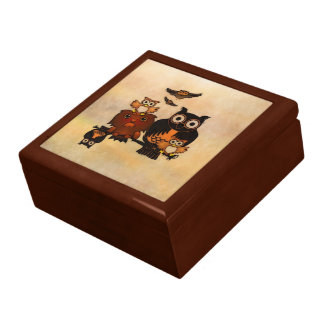 Gift Box Funny Owls