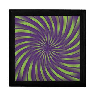 Gift Box green and violet spiral vortex