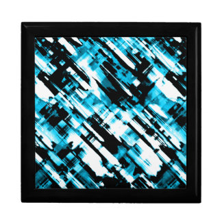 Gift Box Hot Blue Black abstract digitalart G253