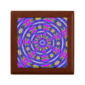 Gift Box - Pink, Blue & Gold Kaleidoscope
