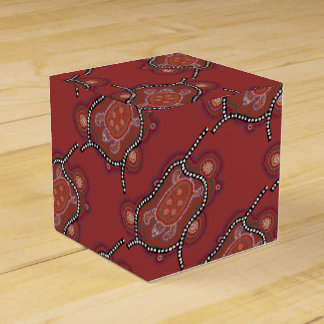 gift box with turtle aborigines style wedding favour box