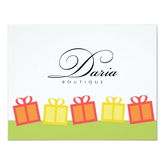 Gift boxes retail business gift certificate card