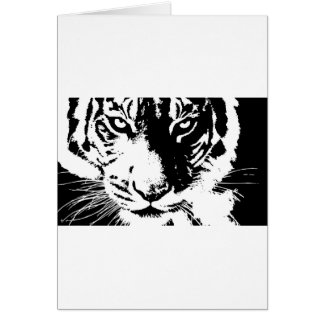 Gift card with a black and white print Tiger