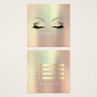 Gift Certificate Champaign Gold Lashes Makeup Eye