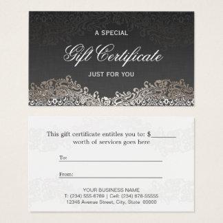 Gift Certificate - Elegant Vintage Silver Damask