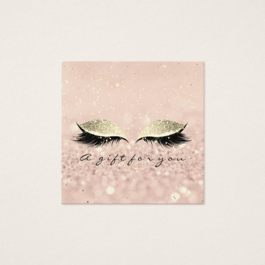 Gift Certificate Gold Glitter Lashes Makeup Artist