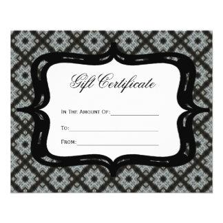 Gift Certificate Grey Pattern 11.5 Cm X 14 Cm Flyer