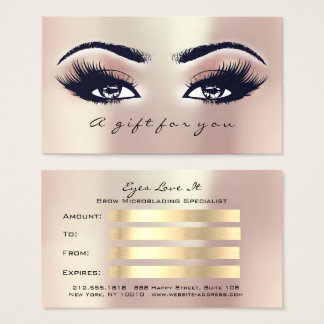 Gift Certificate Pink Rose Coral  Lashes Makeup