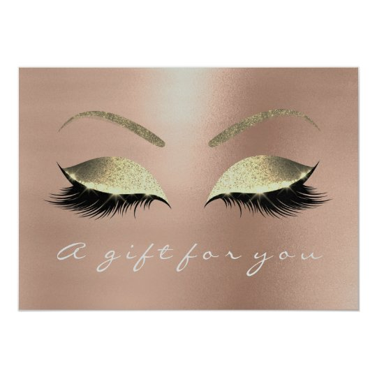 Gift Certificate Pink Rose Gold Lash Beauty Studio